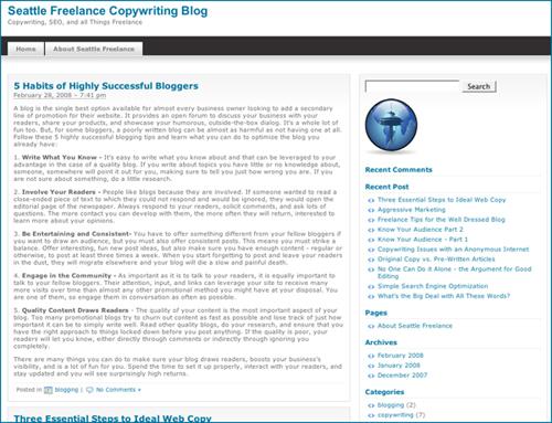 Seattle Freelance Copywriting Blog