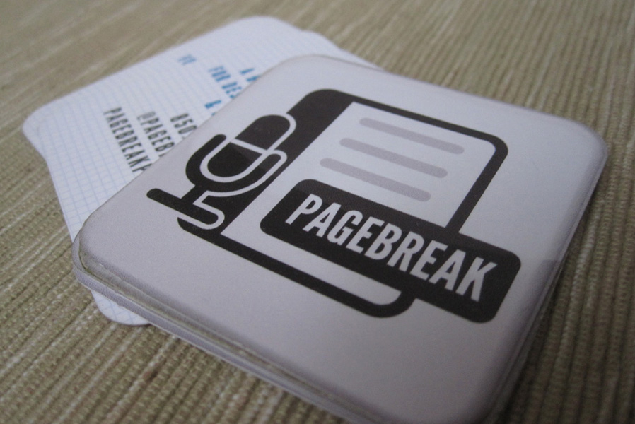 Pagebreak Podcast Business Card Design