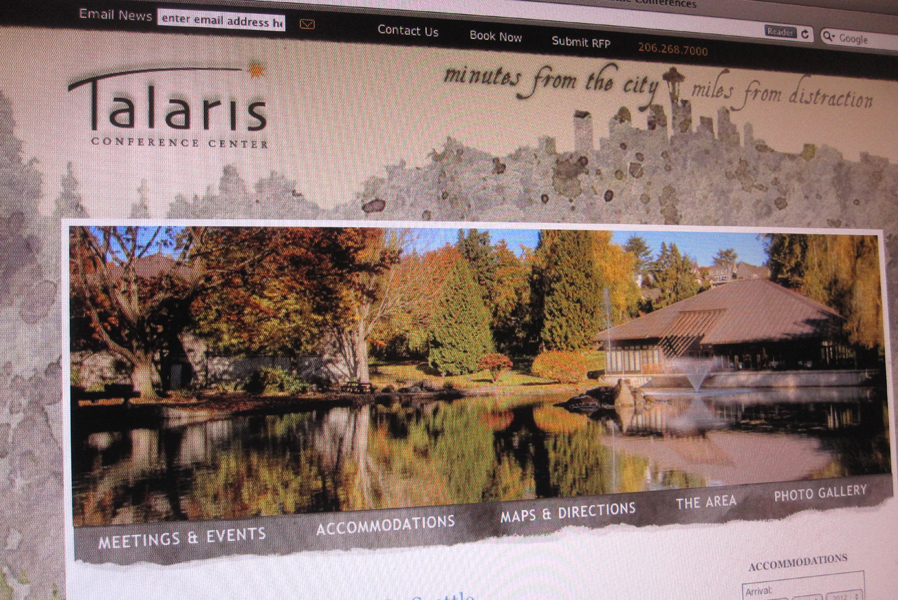Talaris Conference Center Website